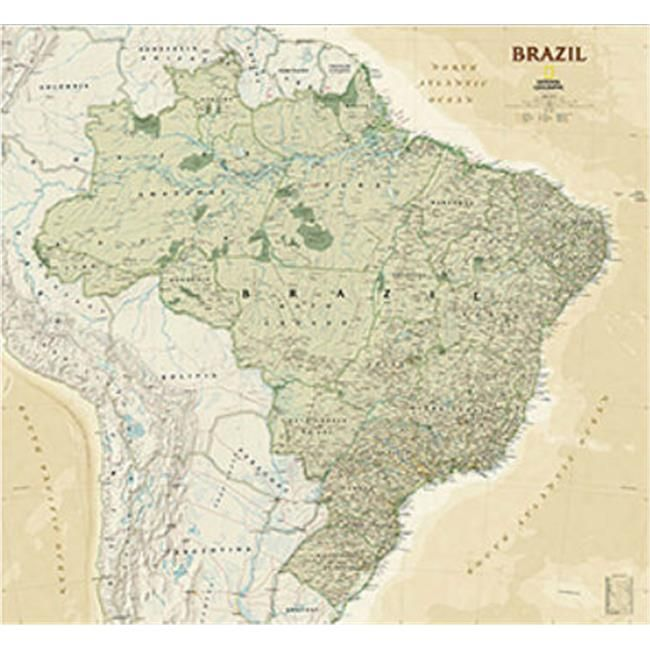 national geographic maps re01020613 brazil executive wall on laminated wall maps id=37031