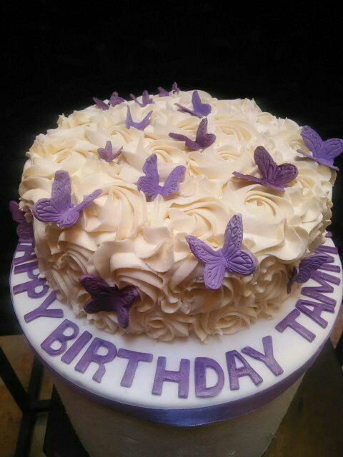 Butterfly Theme Birthday Cake Designed And Created By Yamuna Silva