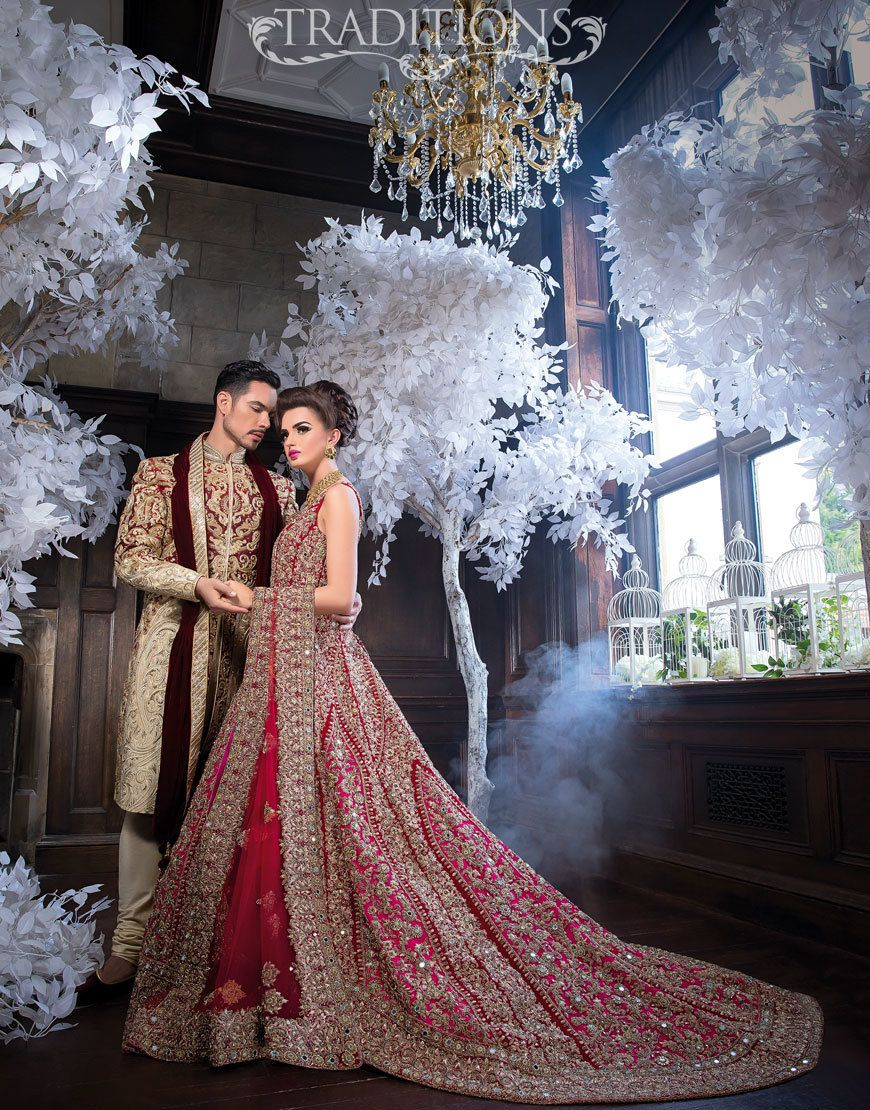 c3bc41911e pink and red wedding dress for Indian and Pakistani brides | Wedding ...
