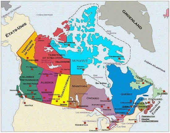 carte du canada aujourd u0026 39 hui