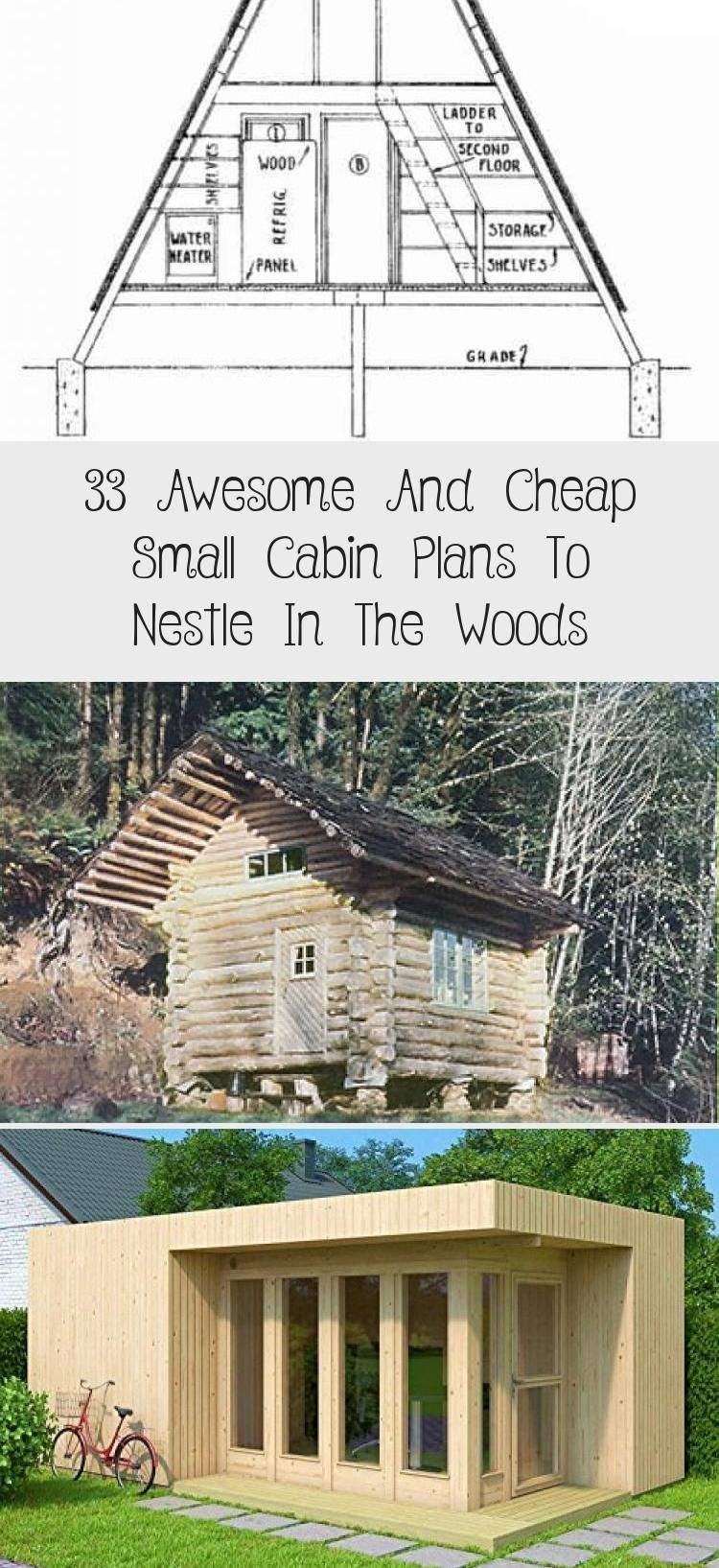 33 Free Or Cheap Small Cabin Plans To Nestle In The Woods Tinyhousedesigncheap Small Cabin Plans Cabin Plans Small Cabin