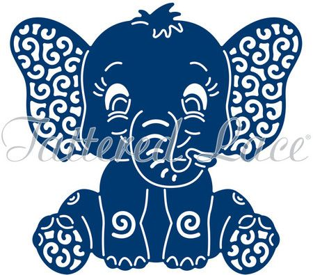 Download Tattered Lace Die - Baby Elephant   Cricut animals ...