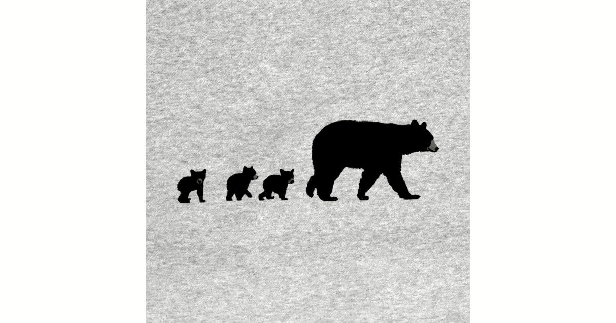 Mama Bear And Her Cubs By Thinkingsimple Mama Bear