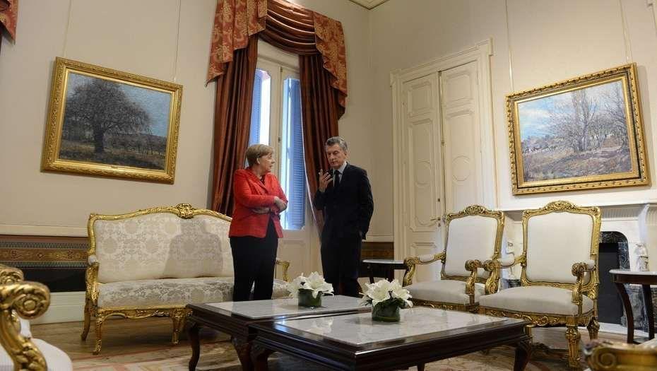 Centolla, lomo y macarons en la cena de Mauricio Macri con Ángela Merkel
