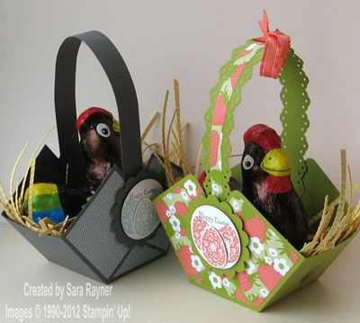 His n hers easter baskets stampin up paper projects his n hers easter baskets stampin up negle Image collections