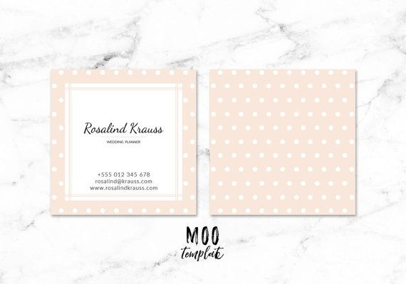 Square Business Cards Template For Moo Instant Download Moo Template Square Business Cards Card Template Business Card Inspiration