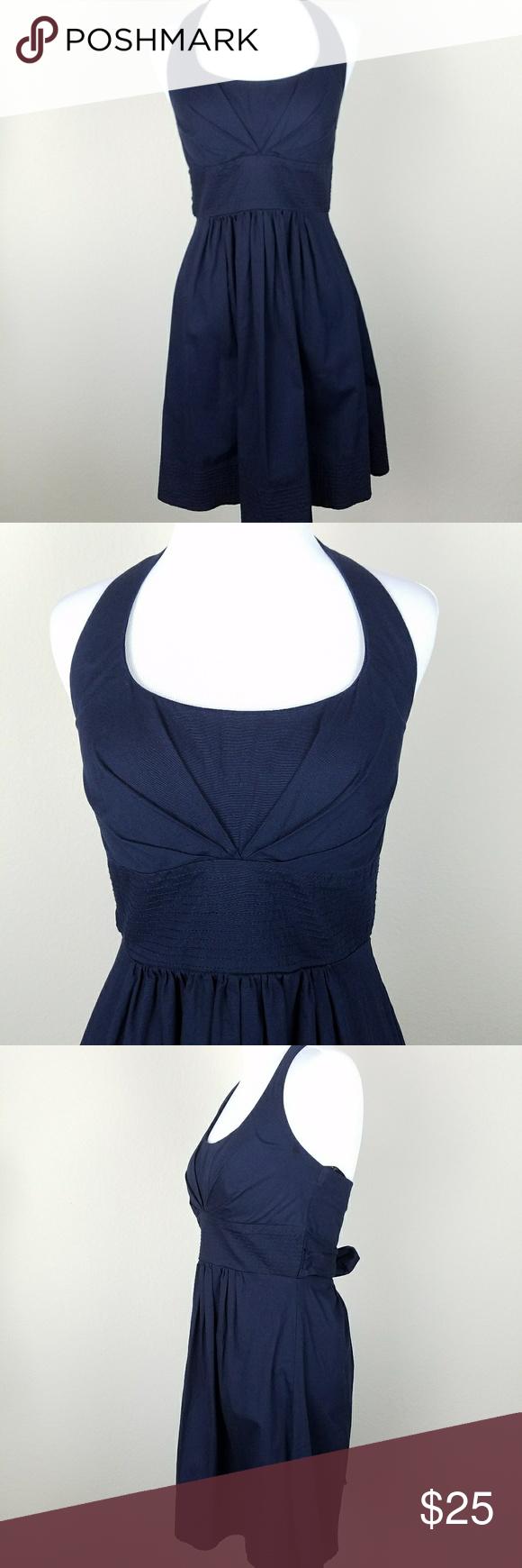 B darlin halter dress size navy blue conditioning and navy