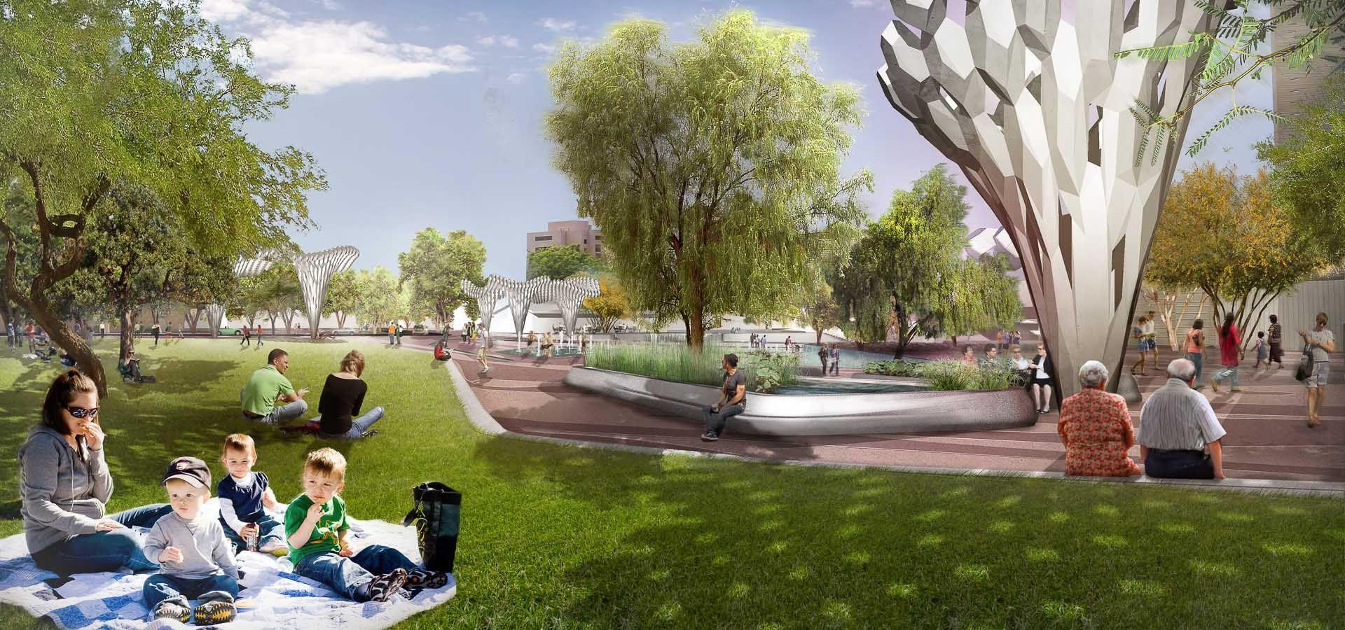 Hance Park Landscape Architecture Design Landscape Entrance Gates Design