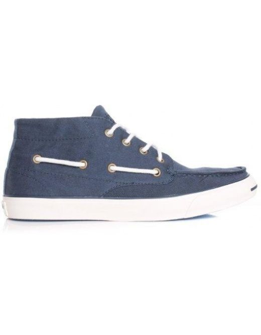 b6af5a72236 CONVERSE JACK PURCELL BOAT MID - NAVY OFF WHITE RRP £ 64.95 ...