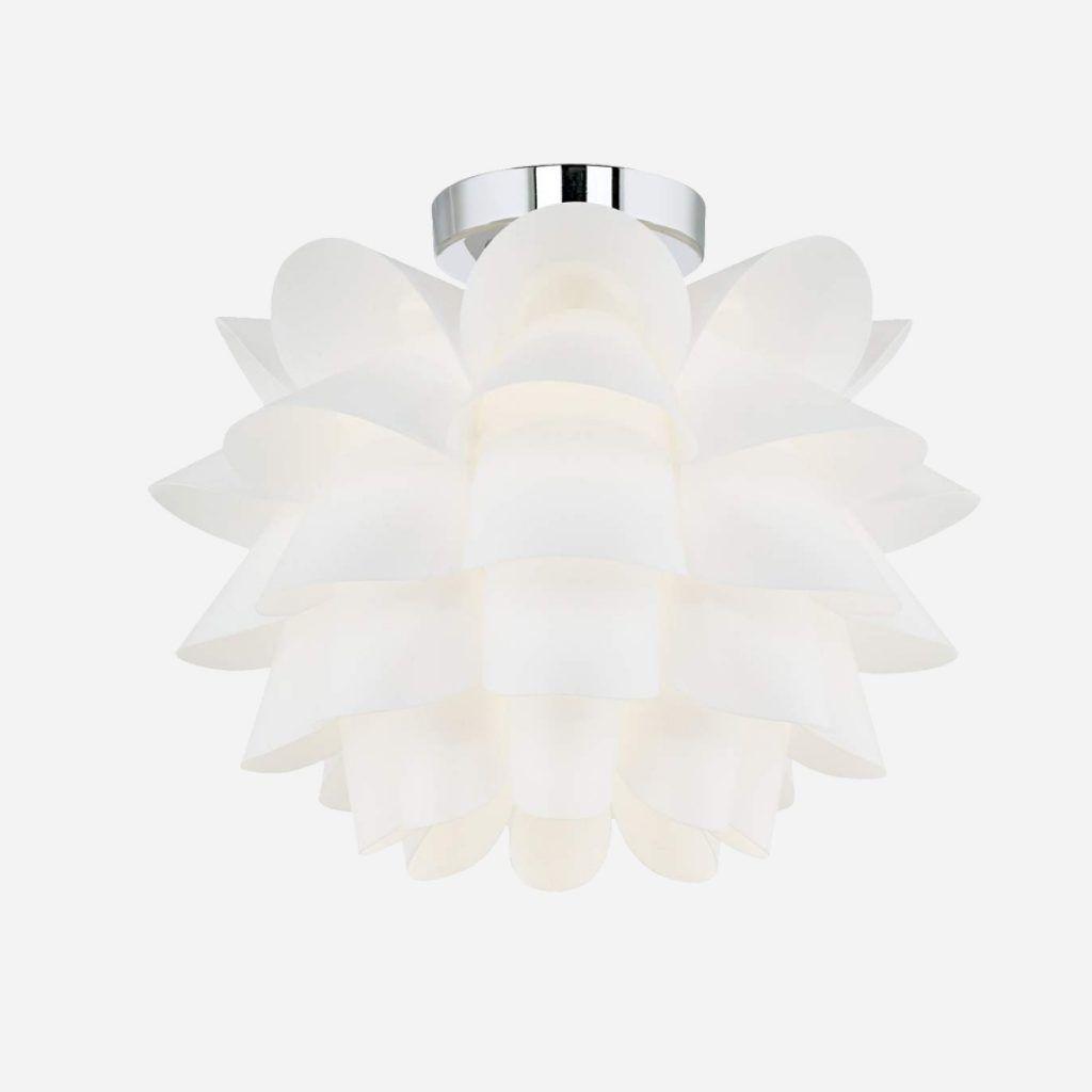 possini euro design white flower ceiling light