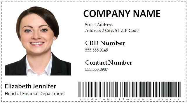 Employee Id Card Template Psd