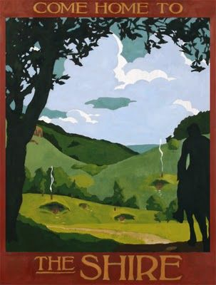 Lord of the Rings travel posters - the Shire