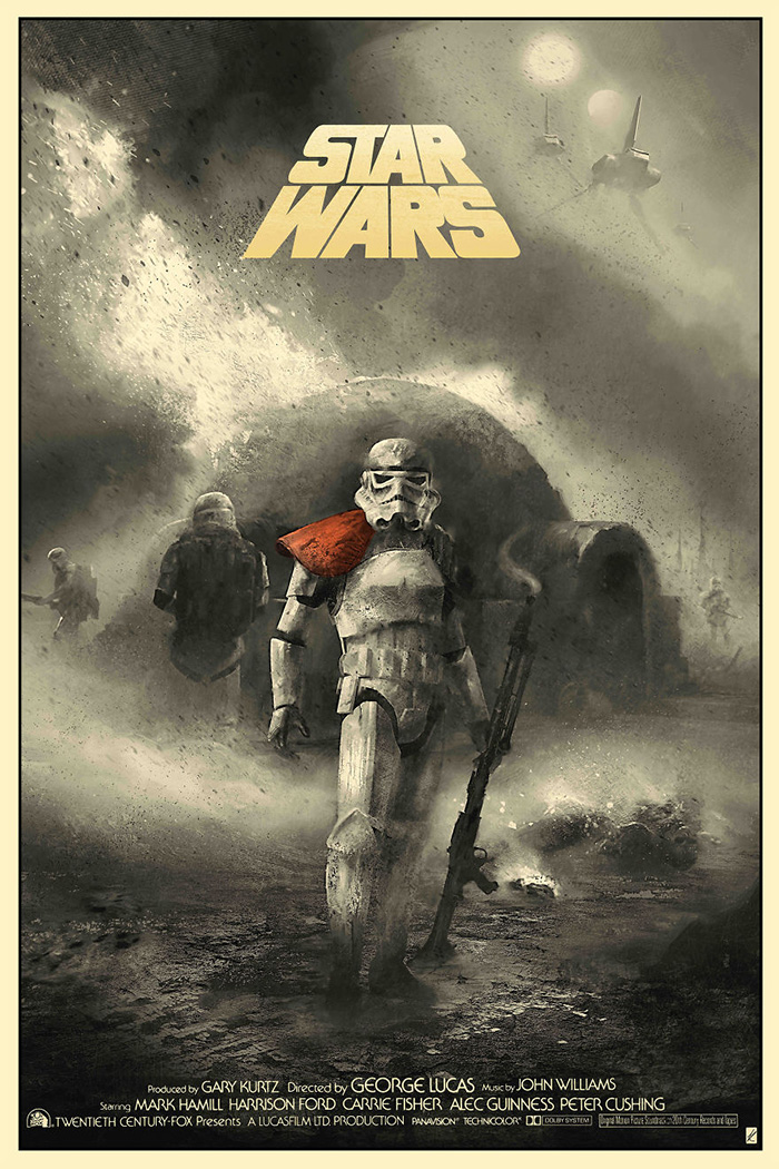Star Wars Episode IV  A New Hope by Karl Fitzgerald  Home of the Alternative Movie Poster AMP  Action Archives  Page 29 of 78  Home of the Alternative Movie Poster AMP
