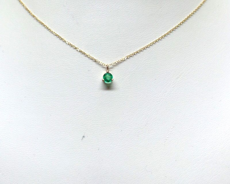 Emerald Necklace 14k Gold Emerald Solitaire Necklace Minimalist Emerald Necklace Dainty Emerald Green Emerald Necklace May Gem In 2021 Emerald Necklace Diamond Cross Necklaces Gold Cross Necklace