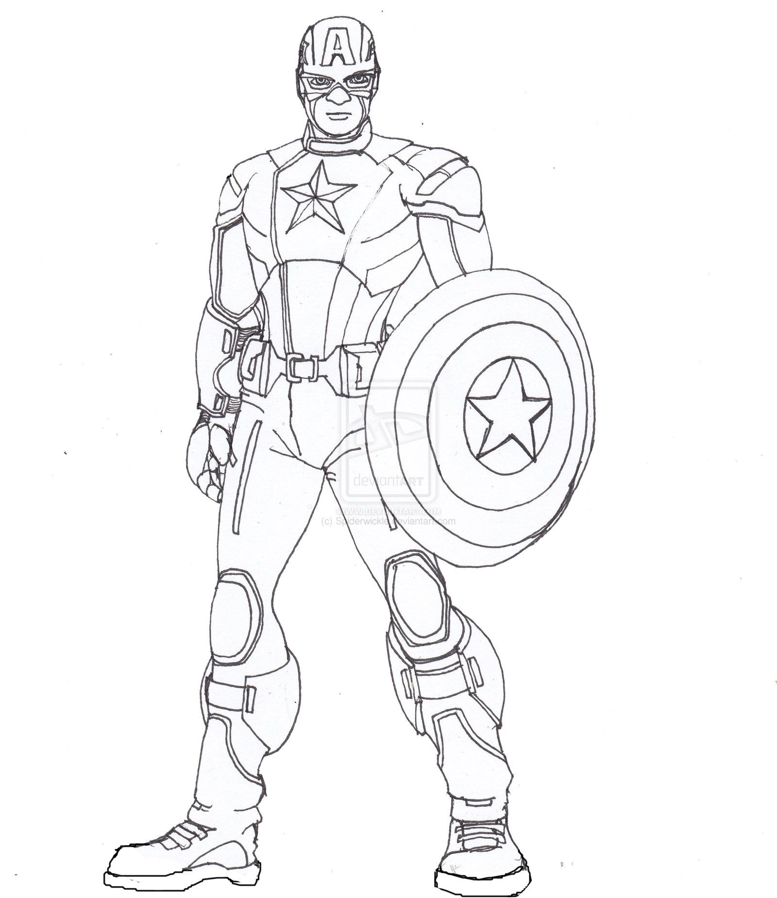 Captain America Lines by ConstantM0tion.deviantart.com on ...