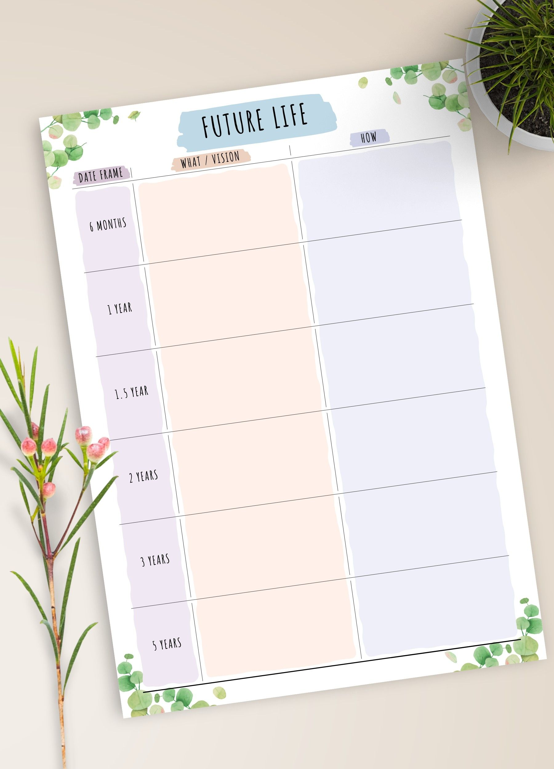 Weekly Goal Planner Printable Goal Setting Template Personal Etsy In 2020