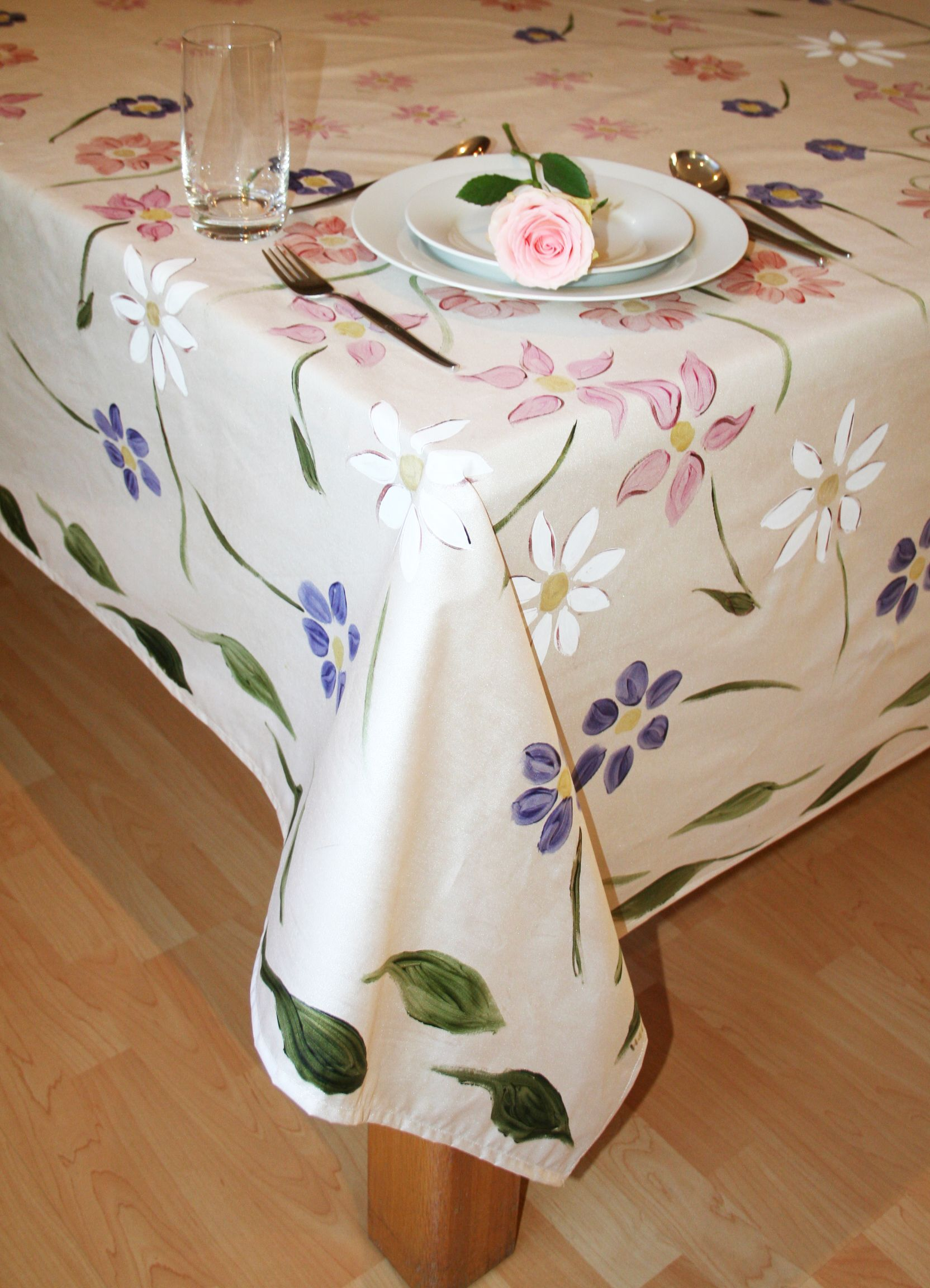 Table Painting Designs African Inspired Hand Painted Tablecloths These Designs