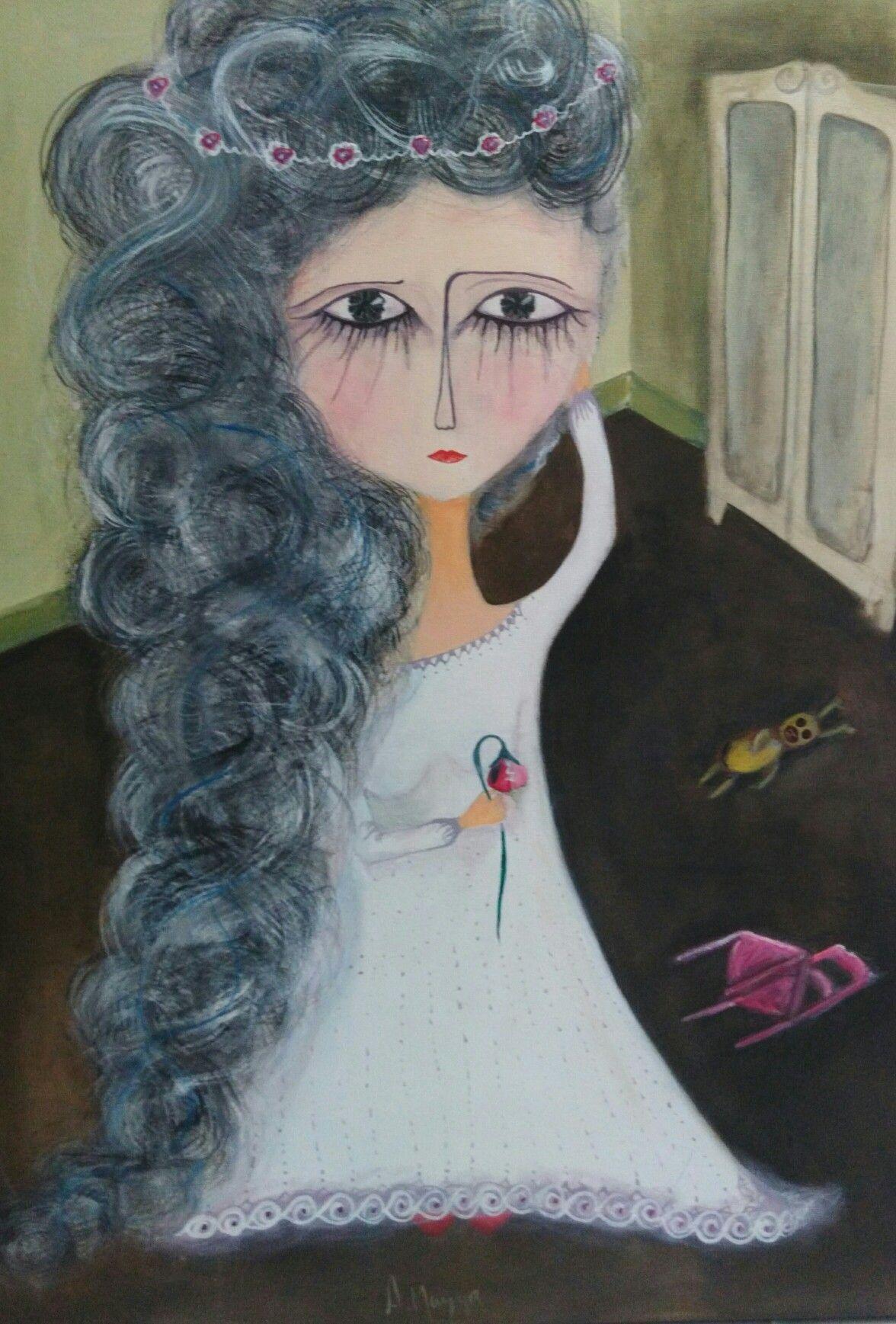 Alejandra mazza Desdichada Acrílico s/tela 70x50 cm 2016