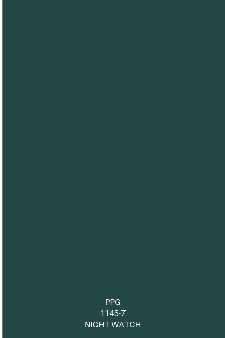Colors of the year ppg night watch interiordesign - Night watch paint color ...