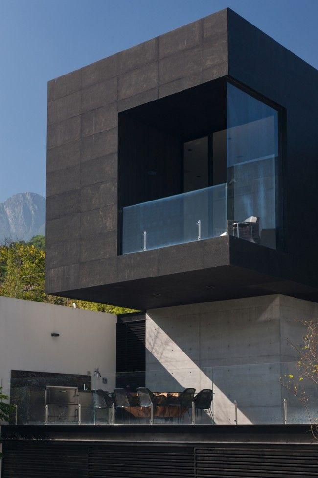 Maison contemporaine avec façade béton noir Architecture design
