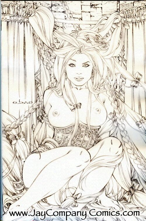 Grimm Fairy Tales 19 Nude Virgin Sketch Variant comic produced by ...