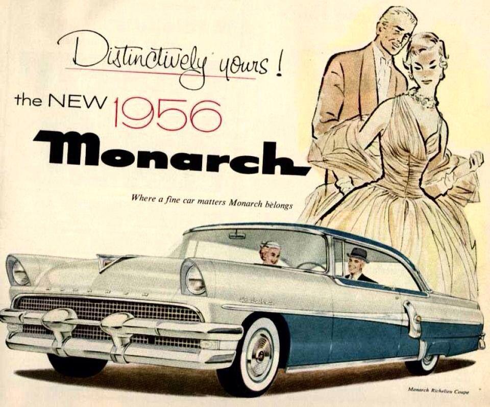 1956 Mercury Monarch Airbrushed Advertisement
