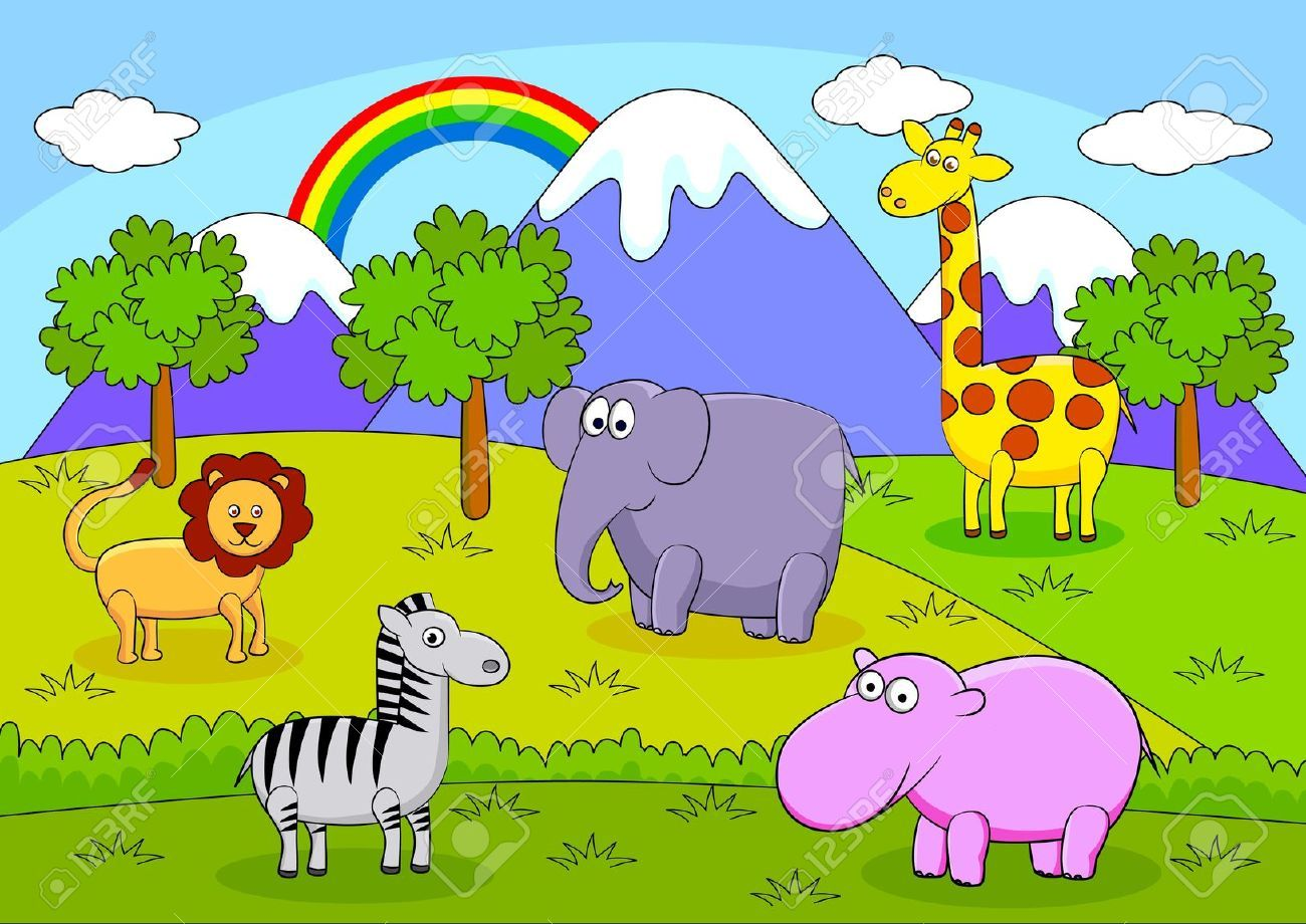 Resultado de imagen para animales y plantas animado