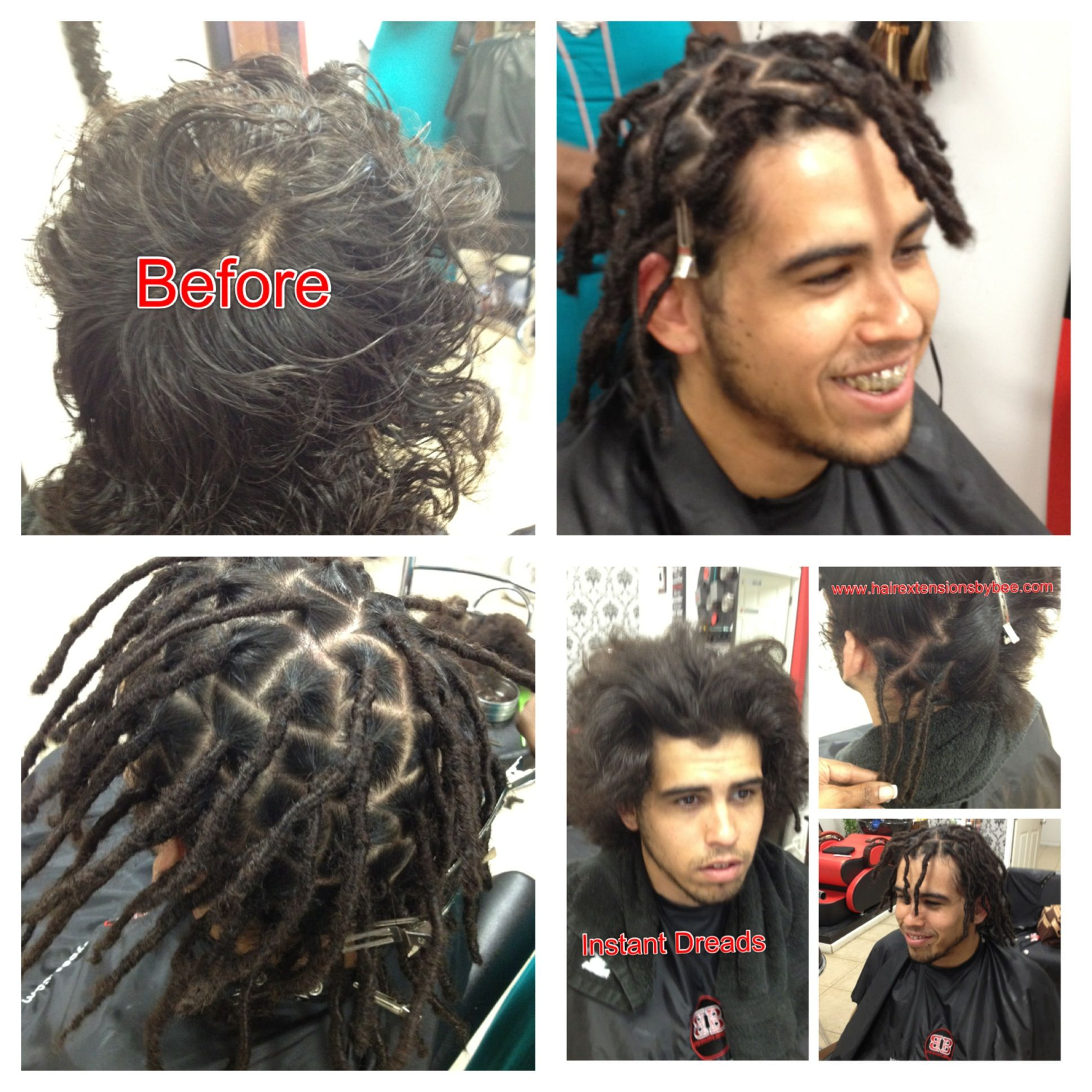 Instant Dreads Will Work With Any Texture Hair. Doesn't