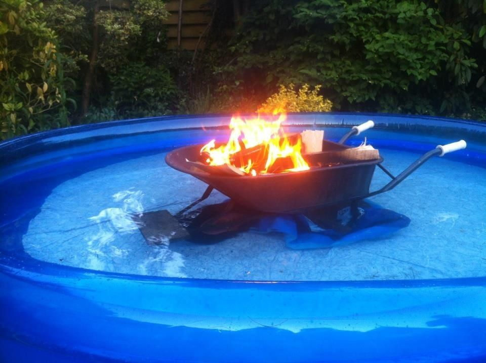 My Friends Decided To Warm Up Their New Outdoor Pool.