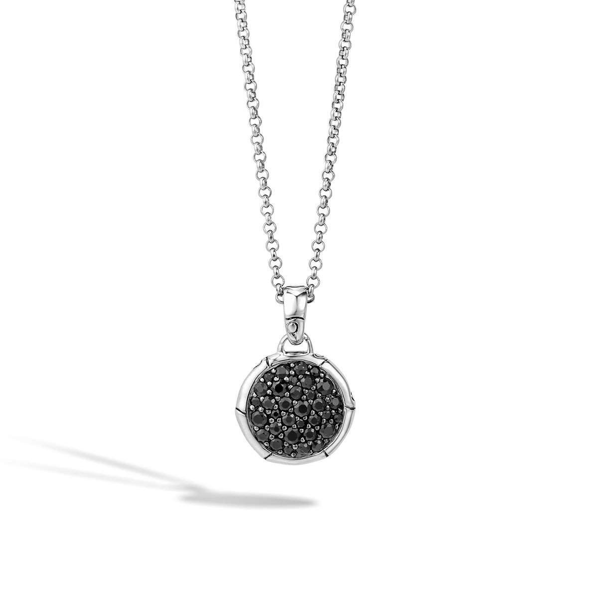John Hardy Interlinking Pendant Necklace With Black Sapphire 2bybdauh