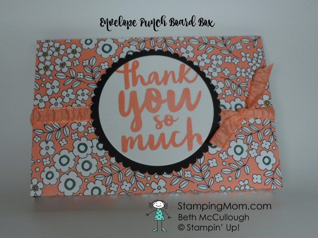 Stampin Up Notecard size Envelope Punch Board box containing three