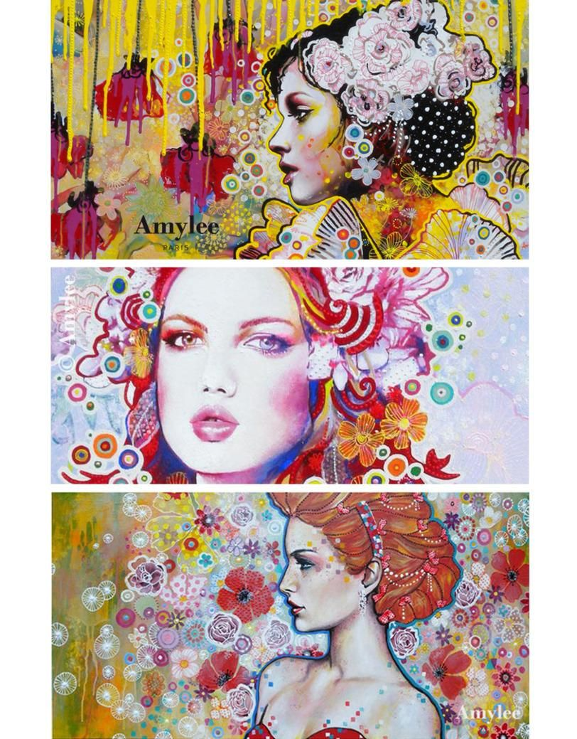 Amylee artiste peintre de couleurs portraits for Tableau art contemporain