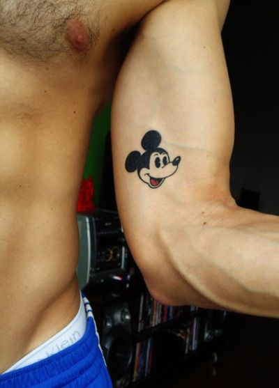 Mickey Mouse Outline Tattoo