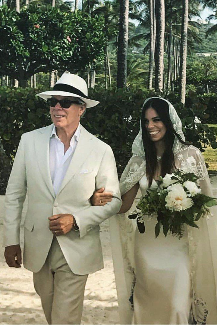 Tommy Hilfiger Designed His Daughter A Wedding Dress But Wait Until You See Her Bridal Cape