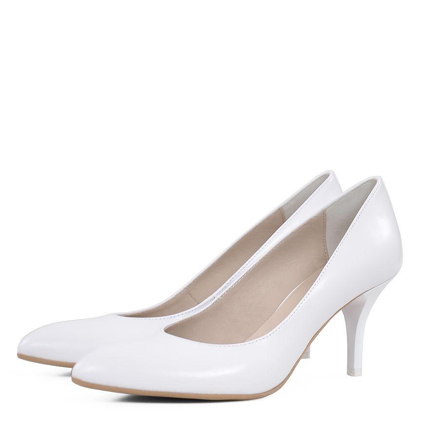 Czolenka Damskie Gassu Model Nahia Biale Polmatowe Azure Sklep Pl Heels Shoes Kitten Heels