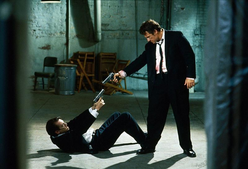 reservoir dogs standoff | Reservoir dogs, Reservoir dogs poster, Dog movies