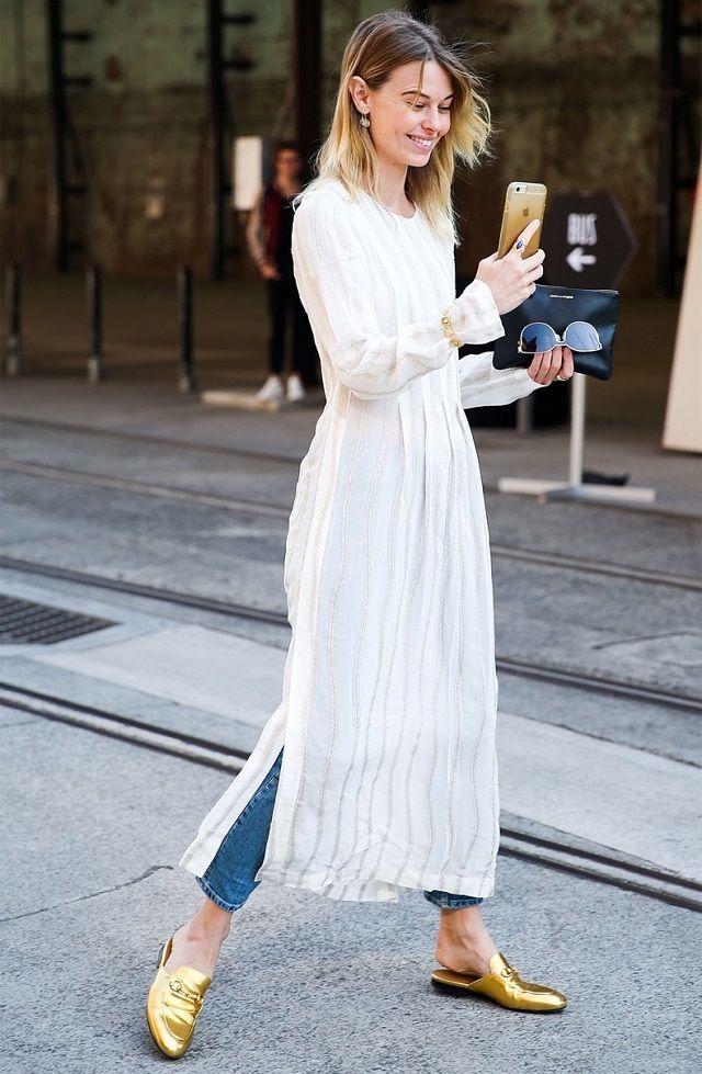 4975211712e Ideas de look con vestido sobre pantalones. Lo Mejor de Street Style. Si el