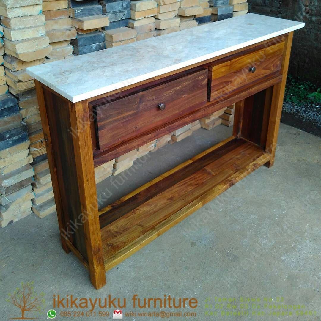 real pic made by ikikayuku credenza top marmer #meja #credenza #mejaconsole #table #mejakonsul #mejarias #mebeljepara #furniturejepara #mejakredenza  More info & Fast Response : ☎ Telp./WhatsApp :085 224 011599 email :wiki.winarta@gmail.com 📌Showroom : Jl.taman siswa no.33 rt 02 rw 03 pekalongan batealit jepara  We are Trusted Furniture Online seller