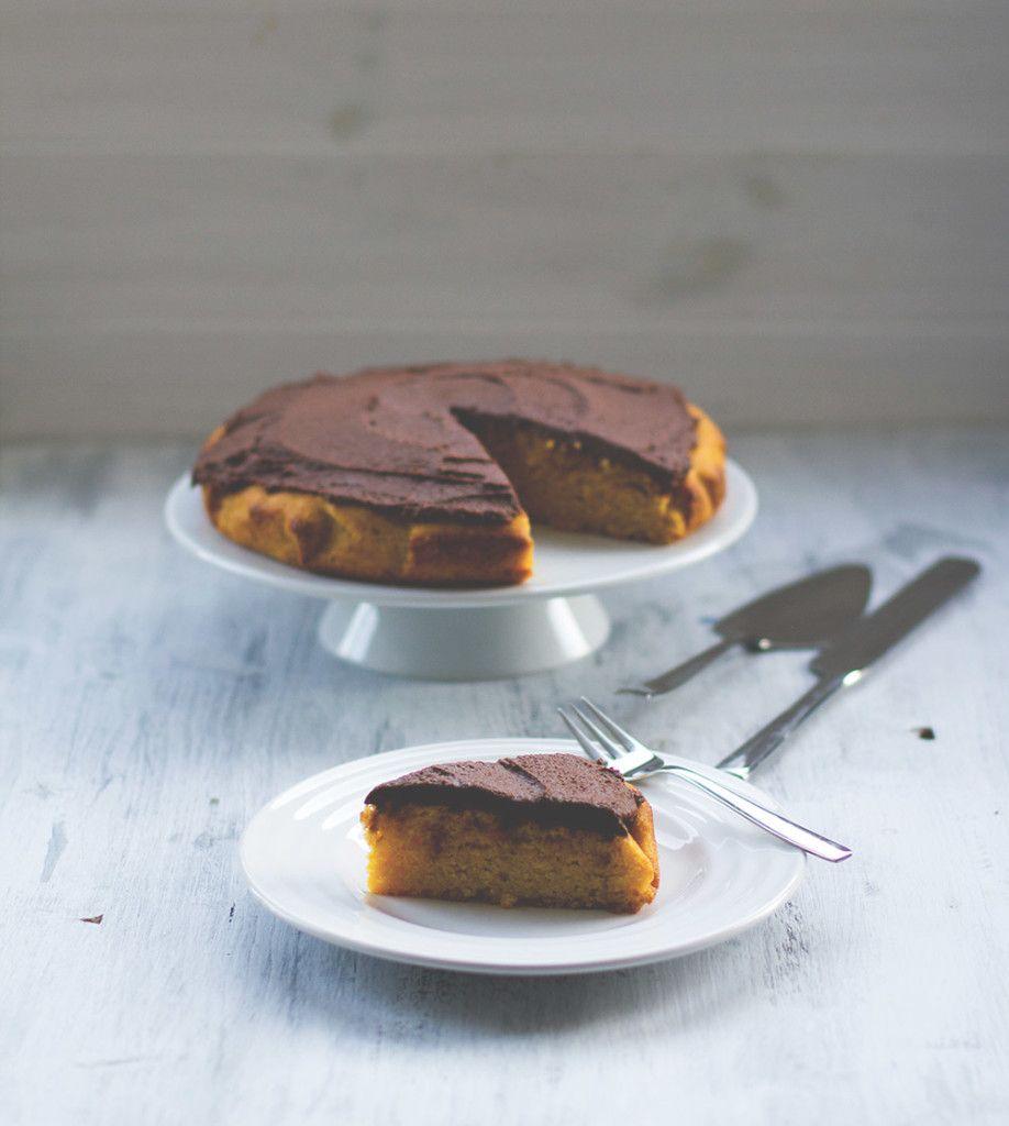 Saftiger Kurbiskuchen Mit Schoko Ganache Rezept Backen Kuchen