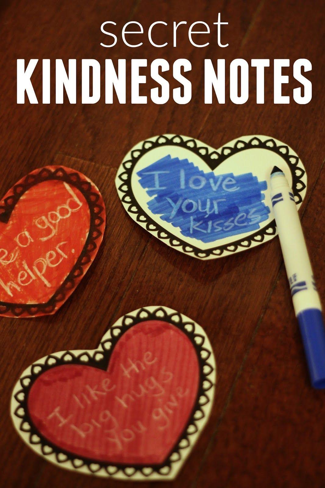 Secret Kindness Notes Kindness notes, Kindness