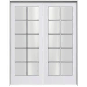 Jeld Wen Smooth 10 Lite Primed Pine Prehung Interior French Double Door With Primed Jamb Discontinued Thdjw103800120 Exterior Doors With Glass French Doors Interior Folding Doors Exterior