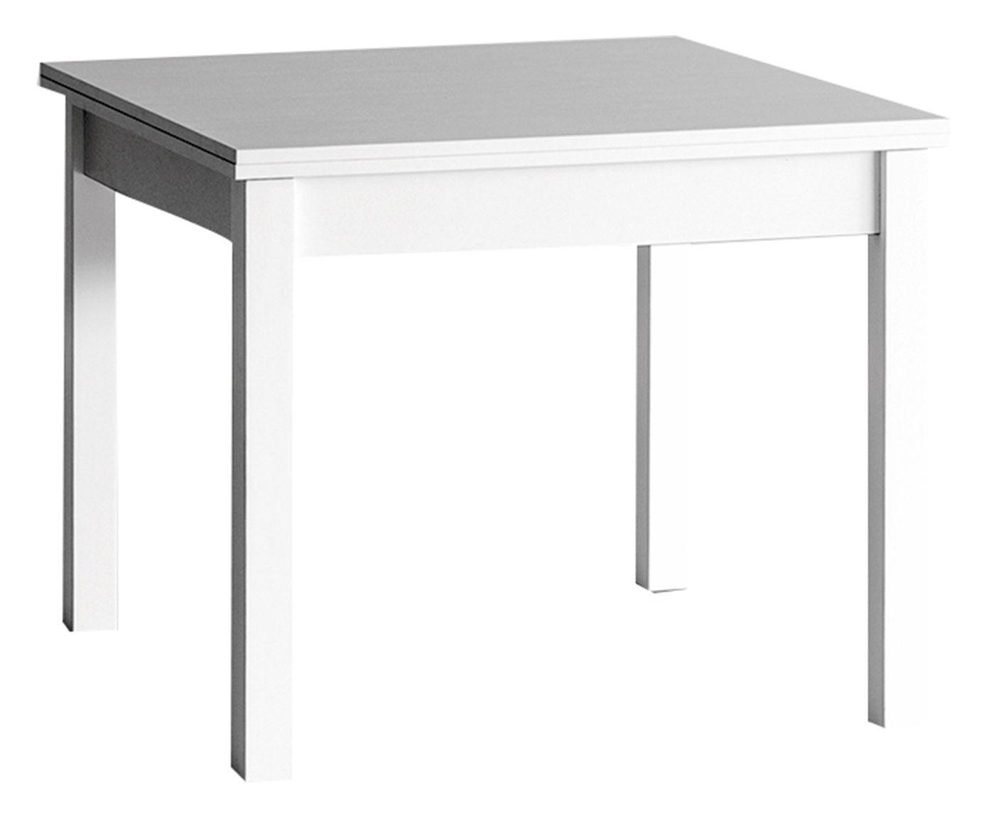 Tavolo 90 X 90 Allungabile Bianco.Tavolo Allungabile In Frassino Memo Bianco 90x90 240x75 Cm