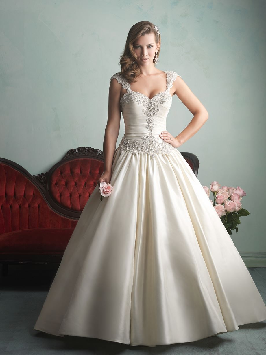 Add on sleeves for wedding dresses  Allure Bridals Fall Wedding Dresses  Part   Satin Ballgown