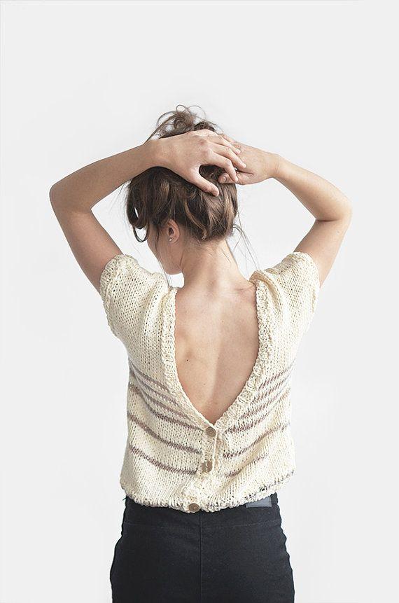 Mujeres chaqueta de punto algodón Jersey espalda por Plexida ...