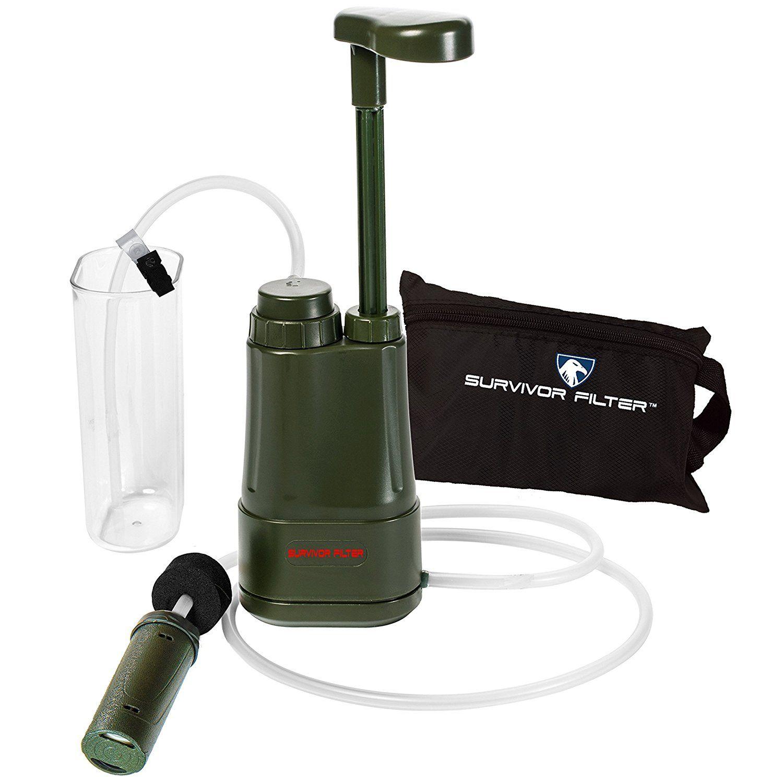 amazon com survivor filter pro 0 01 micron water purifier pump