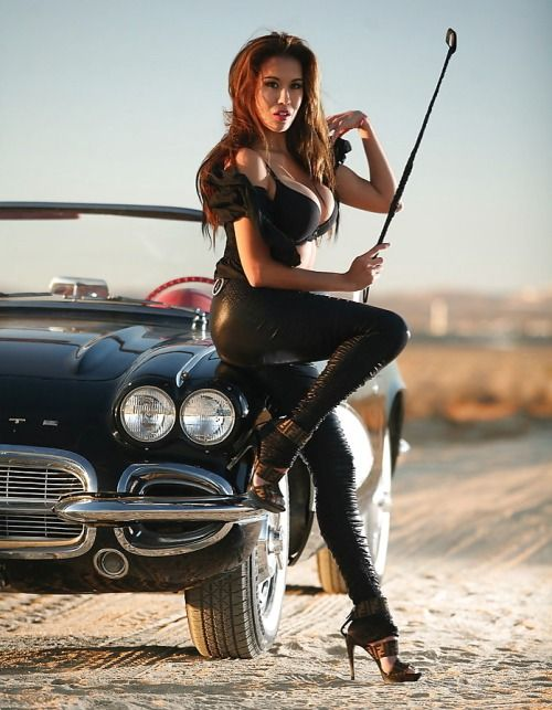 hot leather babes and cars
