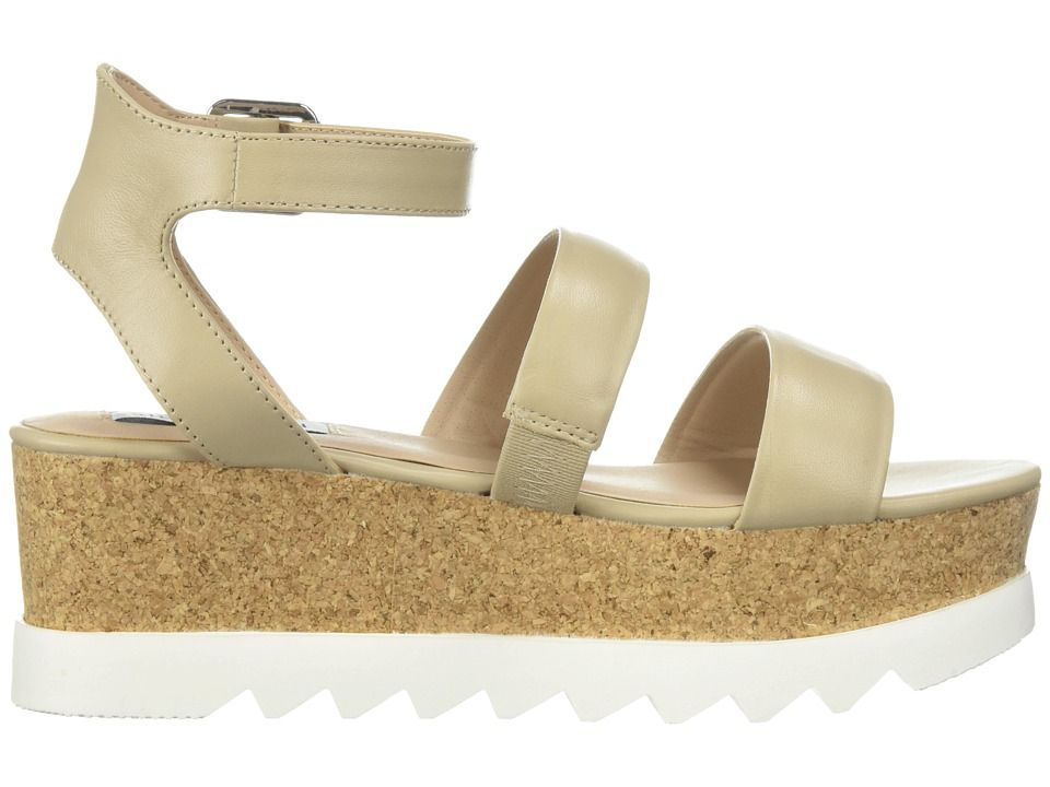 865087d7703 Steve Madden Kirsten Cork Platform Wedge Sandal Women s Shoes Natural  Leather