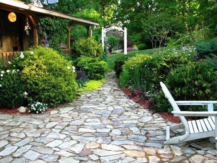 gartengestaltung ideen gartenweg steine pflanzen Gartenweg - gartengestaltung mit steinen und pflanzen