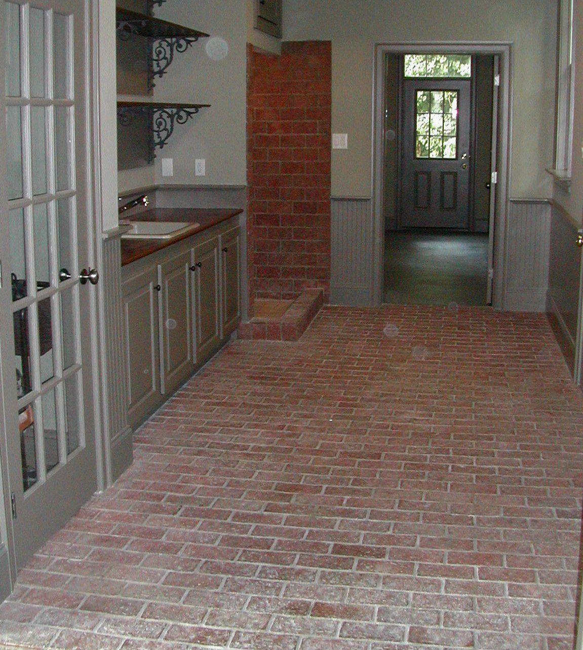 Kitchen Brick Floor Brick Floor Mudroom With Sink Shower And Storage Folksit Does