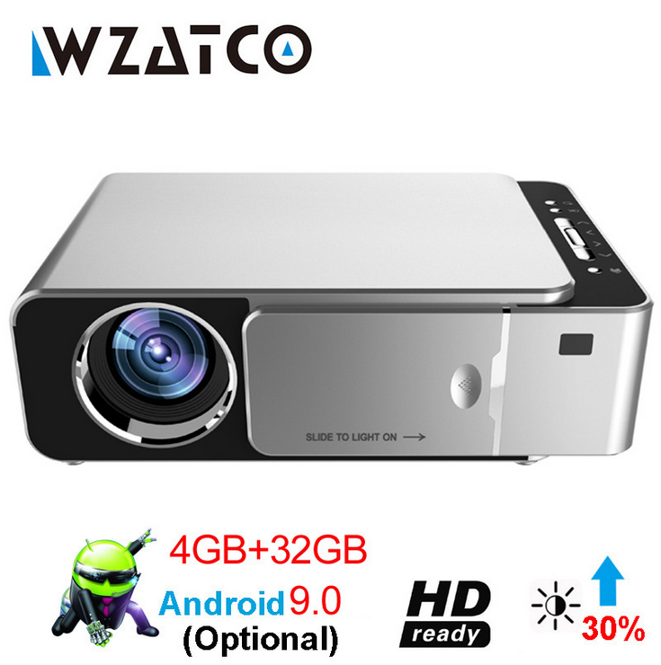 WZATCO T6 Android 9 0 Projector 2600 Lumens 1280x800P Support 1080P